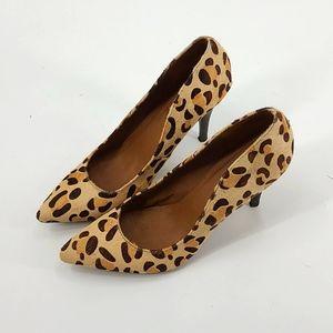 Steve madden leopard print pony hair heels